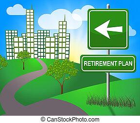 Retirement Plan Means Old Age Pension 3d Illustration