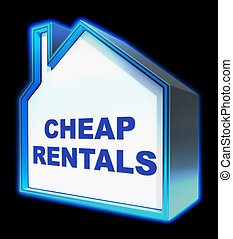 Cheap Rentals Meaning Low Cost 3d Rendering - Cheap Rentals...