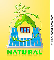Natural Displays Organic Healthy And Pure 3d Illustration