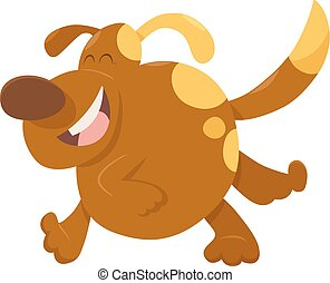 running dog animal character