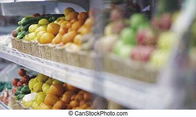 fruits and vegetables in supermarket - fruits and vegetables...