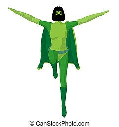Super Heroine Illustration Silhouette - Super heroine...