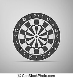Classic Darts Board with Twenty Black and White Sectors icon.