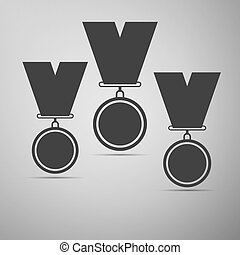 Set of medal icons.