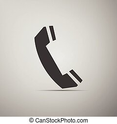 Telephone handset icon