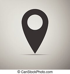 Map pin icon. Vector Illustration.