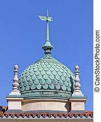 cupola - Budapest, Hungary, Castle Hill, buildings decorated...