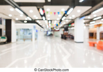 Abstract blur and bokeh shopping mall and retails store...