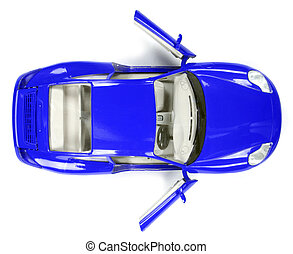 Up view of a great car - Up view of a great car isolated on...