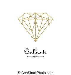 Gemstone faceting gold pattern.