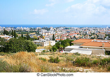 Cyprus landscape - Seaside city in Cyprus.