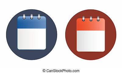 Blank sheet of calendar icon in two variants.