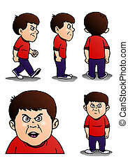 pose of naughty boy - illustration of a pose of naughty boy...