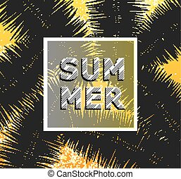 Summer background with palm trees. Vector illustration