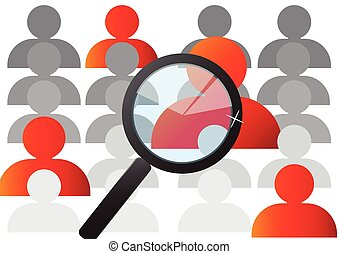 Search Job and career choice interesting person