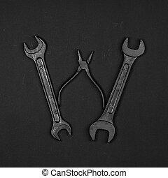修理, 做, 字母表, 信,  W, 工具