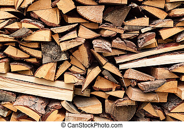 abstract background with stack of wood