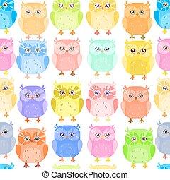 Cute little owl pattern