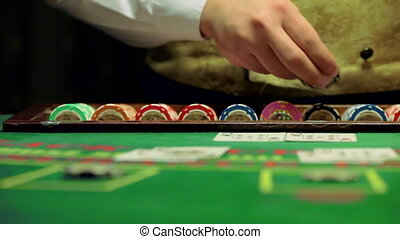 casino chips and cards game blackjack