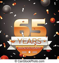 Sixty five years anniversary celebration background with...