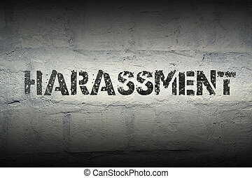 harassment WORD GR - harassment stencil print on the grunge...
