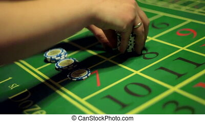 casino, play roulette, the winnings are paid out