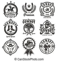 Logotipos,  rodeo, Conjunto
