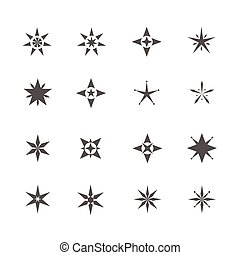 Star shape icons template for tattoo designs