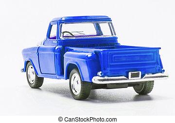 藍色, 玩具, 汽車, 被隔离, 卡車,  retro, 培養, 看法