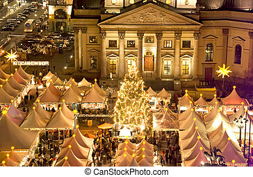 berlin christmas - berlin gendarmenmarkt christmas at night