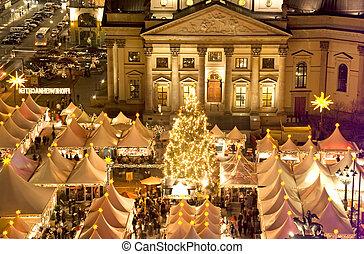 berlin christmas - berlin gendarmenmarkt christmas at night