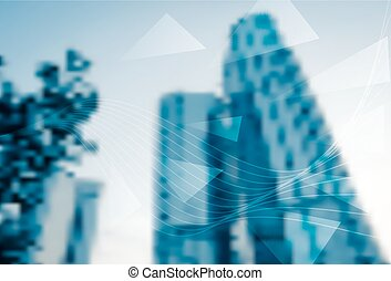 Abstract blur background of business office