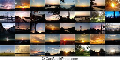 beautiful skyscapes and sunsets