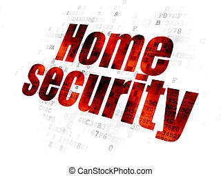 Safety concept: Home Security on Digital background