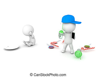 3D Illustration that depicts people in developed countries...