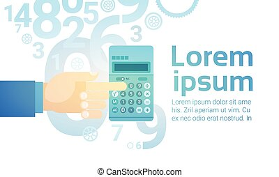 Businessperson Hand Hold Calculator Banking Accountant Flat...