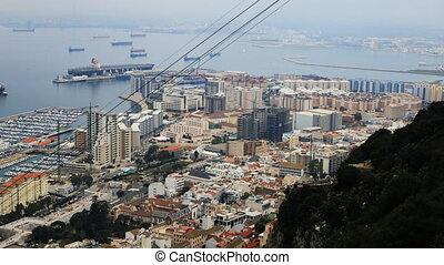 Aerial view of Gibraltar marina - An aerial view of...