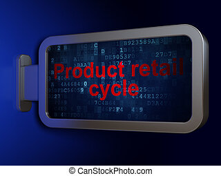 Advertising concept: Product retail Cycle on billboard...
