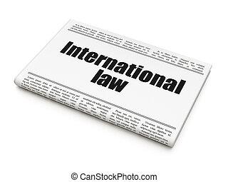 標題, 政治, 報紙, 國際, 法律,  concept: