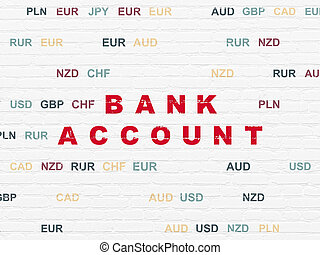 Money concept: Bank Account on wall background - Money...