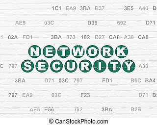 Safety concept: Network Security on wall background - Safety...