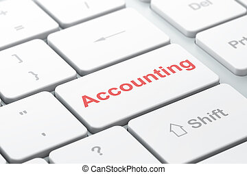 Banking concept: Accounting on computer keyboard background