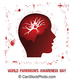 World Parkinson Day - An abstract illustration of...