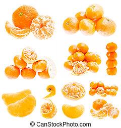 Orange Fruit Background. Summer Oranges. Healthy Food - Set...