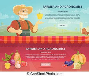 Colorful Agriculture Horizontal Banners
