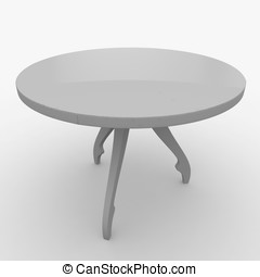 3d furniture detailed table isolated on white