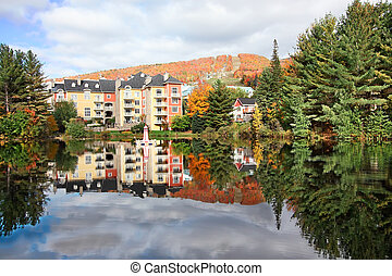 Fall Season in Mont-Tremblant, Quebec, Canada -...
