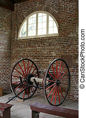 Firehouse wagon - Firehose Wagon in Fire Engine House,...