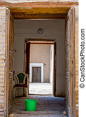 Old door, Khiva, Uzbekistan - Old carved door in Khiva old...