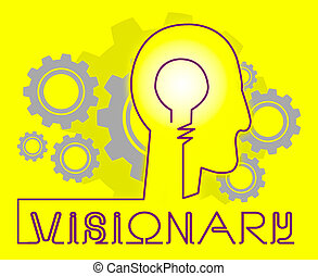 Visionary Brain Representing Insights Strategist And Ideals...